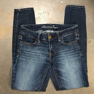 American Eagle Dark Wash Skinny Jegging Jeans